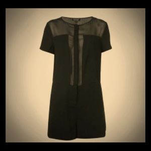 Sophisticated Topshop Romper (w/ sheer top)